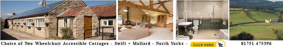 Wheelchair accessible holday cottage yorkshire