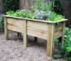 Wheelchair accessible garden plant holders